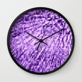 Purple Pixels Wind Wall Clock
