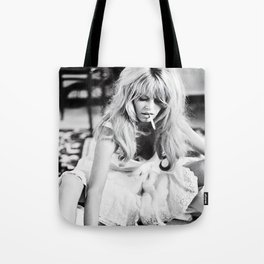 Brigitte Bardot Playing Cards, Black and White Photograph Tote Bag