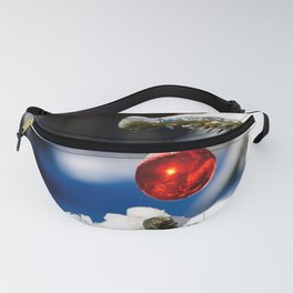 Red Christmas Ball, Sunny Day Fanny Pack
