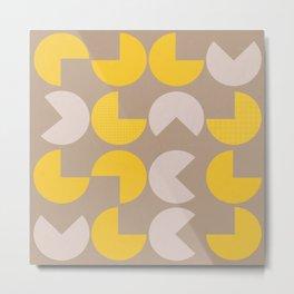 Fortune cookie pattern Metal Print