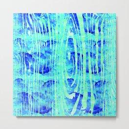 Blue Wood Print Metal Print
