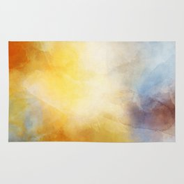 Orange and Yellow Abstract Painting Morning Glow Rug