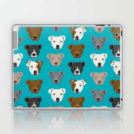 Pitbull faces dog art dog pattern pitbulls cute gifts for rescue dog owners Laptop & iPad Skin