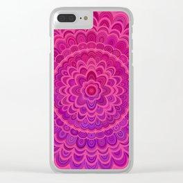 Love Mandala Clear iPhone Case