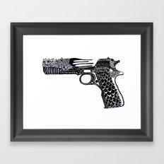Flower Gun  Framed Art Print