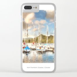 Mont-Tremblant Marina Clear iPhone Case