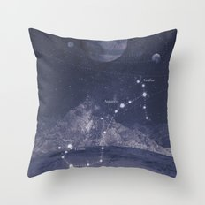 Univers Scorpio  Throw Pillow
