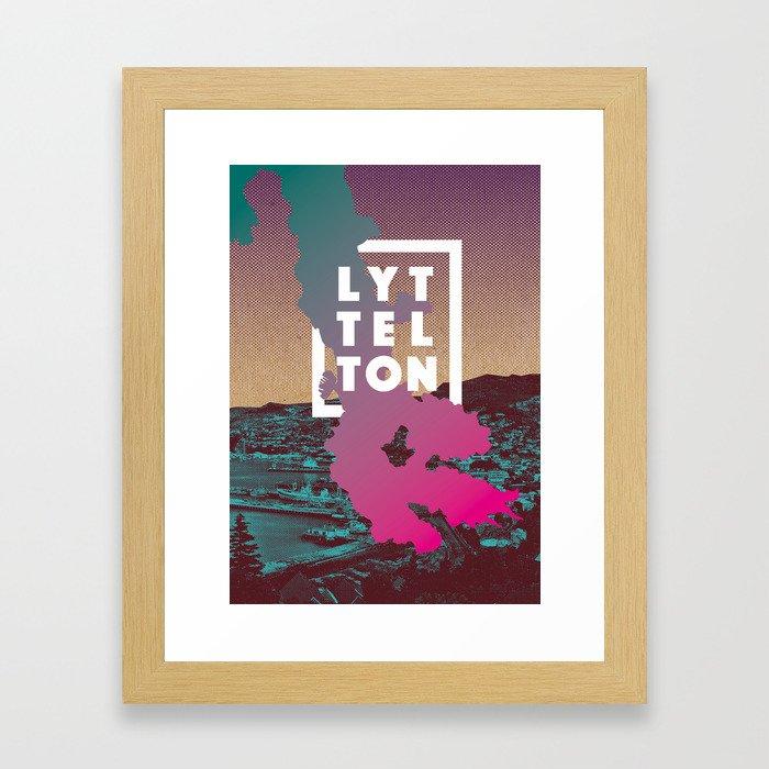 Happy Lyttelton Kraft Framed Art Print