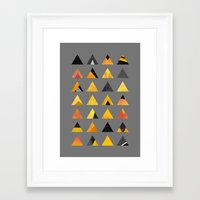 triangles Framed Art Prints featuring Triangles by Elisabeth Fredriksson