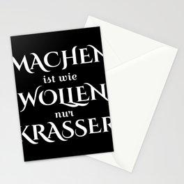 MACHEN ist wie WOLLEN nur Krasser I Motivation design Stationery Cards