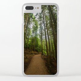 Green Forest Clear iPhone Case