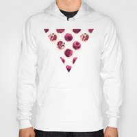 polka Hoodies featuring Pink Pomegranate Polka Dots by micklyn