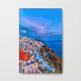 Santorini 7 Metal Print