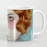 woman Mugs featuring Sasha by Sofia Bonati