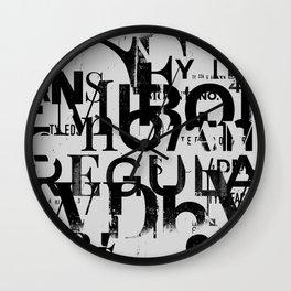 Nonsense typography Wall Clock