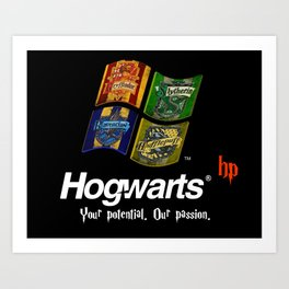 HarryPotter - OS Hogwarts Art Print