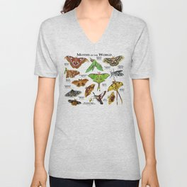 Moths of the World Unisex V-Neck
