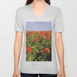 Flower Fields Unisex V-Neck