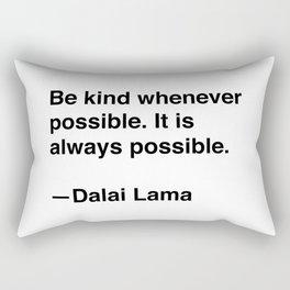 Dalai Lama on Kindness Rectangular Pillow