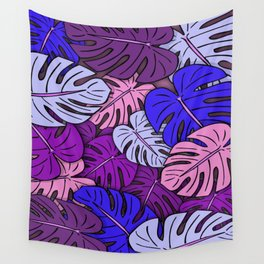 Monstera Leaves #4 Wall Tapestry