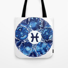 Pisces in Petrykivka style (without artist's signature/date) Tote Bag