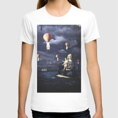 Madonna with Child (on the high sea) MEDIUM White Womens Fitted Tee