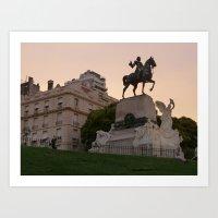 Monument, Recoleta, Buenos Aires Art Print
