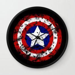 Captain's Shield Wall Clock
