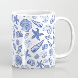 Blue Seashell Print Coffee Mug