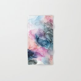 Heavenly Pastels: Original Abstract Ink Painting Hand & Bath Towel