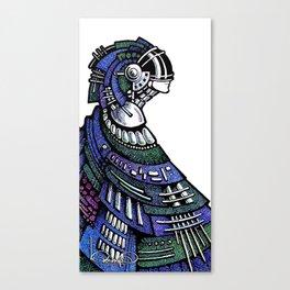 Blue poncho Canvas Print