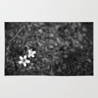 pee wee Area & Throw Rugs featuring Wee flowers by tatakis