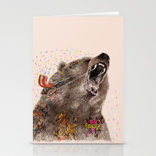 Angry Bear II Stationery Cards