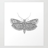 Ornate Moth Art Print