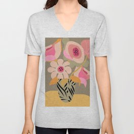 Flower Bucket Unisex V-Neck