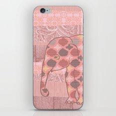 Bohemian Pink Elephant iPhone & iPod Skin