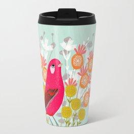 Bird on a Teacup by Andrea Lauren  Travel Mug
