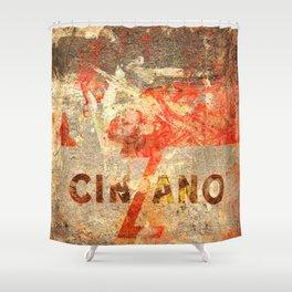 Cinzano - Vintage Vermouth Shower Curtain