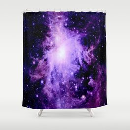 Orion nebUla. : Purple Galaxy Shower Curtain