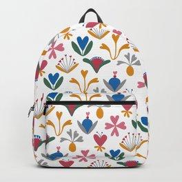 Blue Bell – Scandinavian folk art Backpack