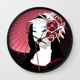 Mona Geisha Lisa Wall Clock