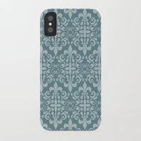 damask iPhone & iPod Cases featuring Damask by Xiao Twins