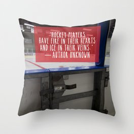 Hockey Passion Throw Pillow