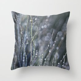 dewy weed abstract Throw Pillow