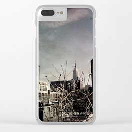 Winter Chill in the City Clear iPhone Case