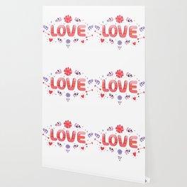 Flora Love Boho Style Wallpaper