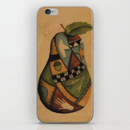 Crazy Quilt Pear iPhone Skin