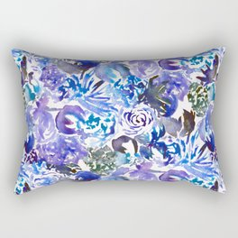 BlueBlooms Rectangular Pillow