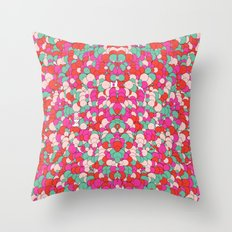 Chaotic Circles Pattern Throw Pillow