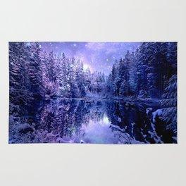 Lavender Winter Wonderland : A Cold Winter's Night Rug